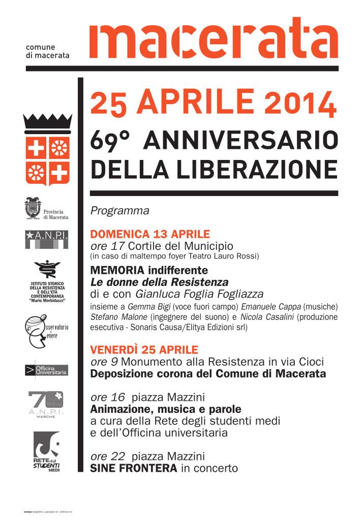 Macerata 25 Aprile 2014_ programma