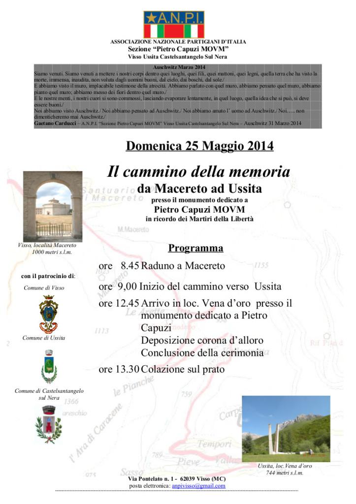 manifesto  Cammino della memoria 2014 (1)