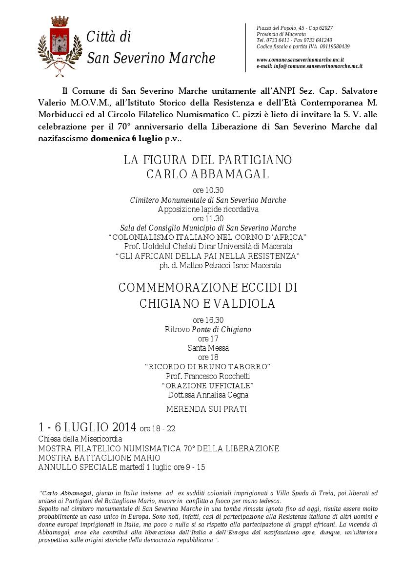 Invito cHIGIANO 2014