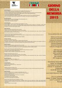 Locandina programma 2015