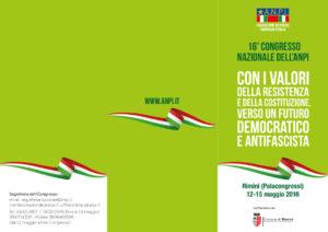 Programma 16esimo Congresso Nazionale ANPI